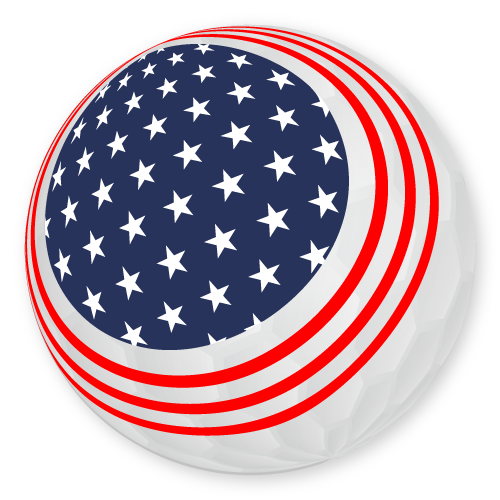 flag print golf ball design