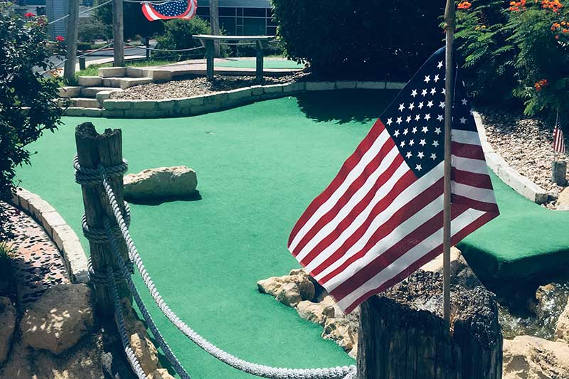 patriotic flag mini golf san antonio tx