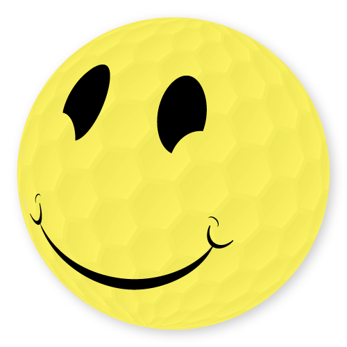 smiley face golf ball design